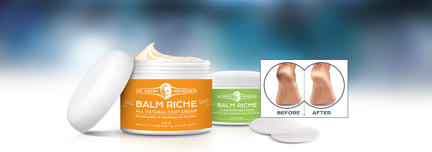 Quality Foot Care, Balm Riche, All Natural Foot Cream.