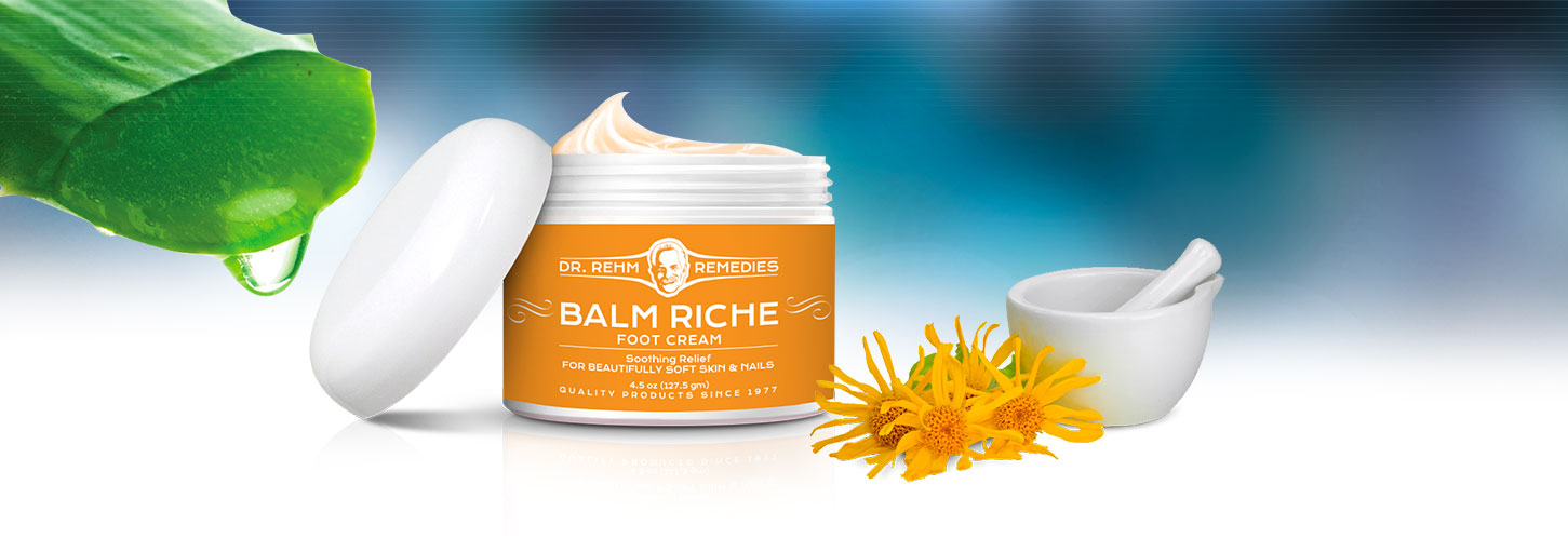 Quality Foot Care, Balm Riche, 100% Natural Foot Cream.