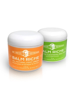 Active Foot Duo | Balm Riche | All Natural Foot Cream | Cleansing Redi-Pads  | Dr Rehm Remedies