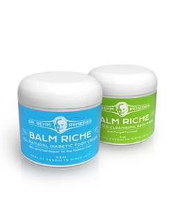 diabetic foot care, Diabetic Duo, Balm Riche, Diabetic Foot Cream, Cleansing, Redi-Pads  | Dr Rehm Remedies